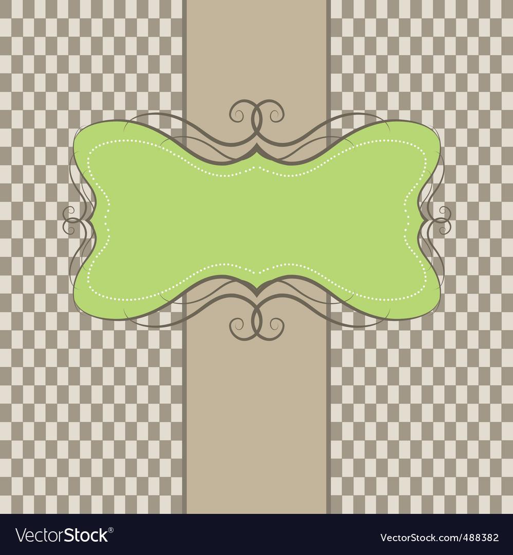 Template frame  vector illustration vector image