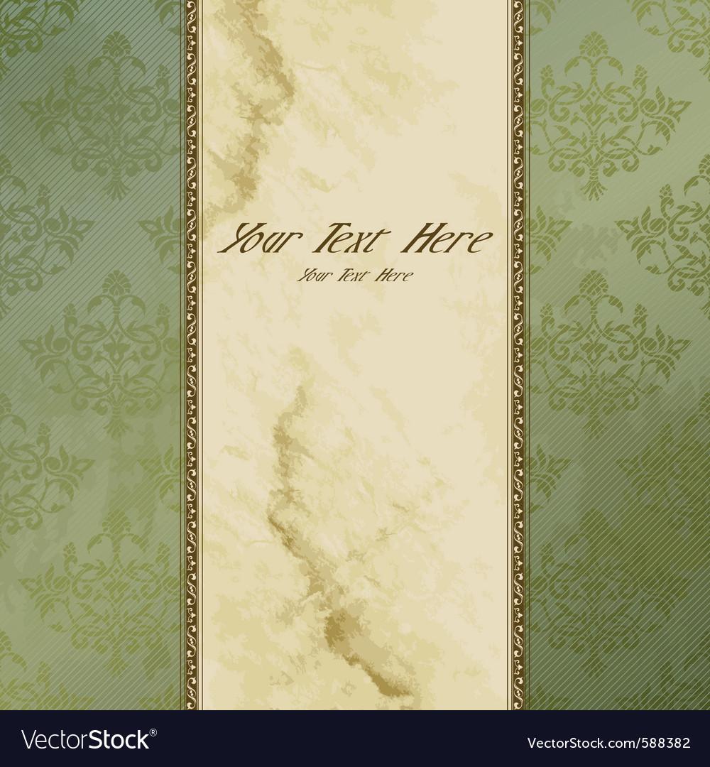 Vertical victorian vintage banner vector image