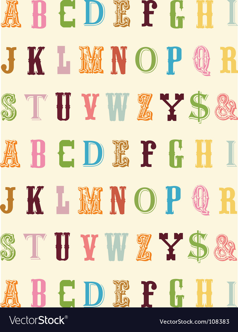 Abc typeface vector image