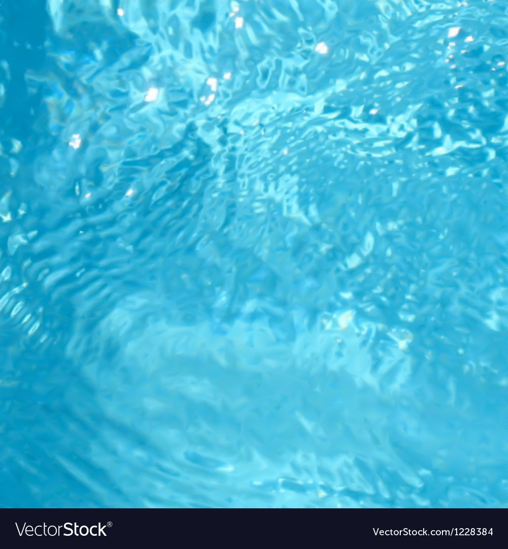 Beautiful clear pool water eps8 Vector Image