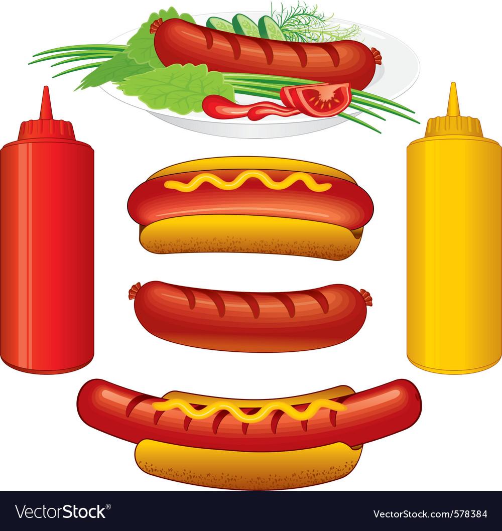 Hot dodg various vector image