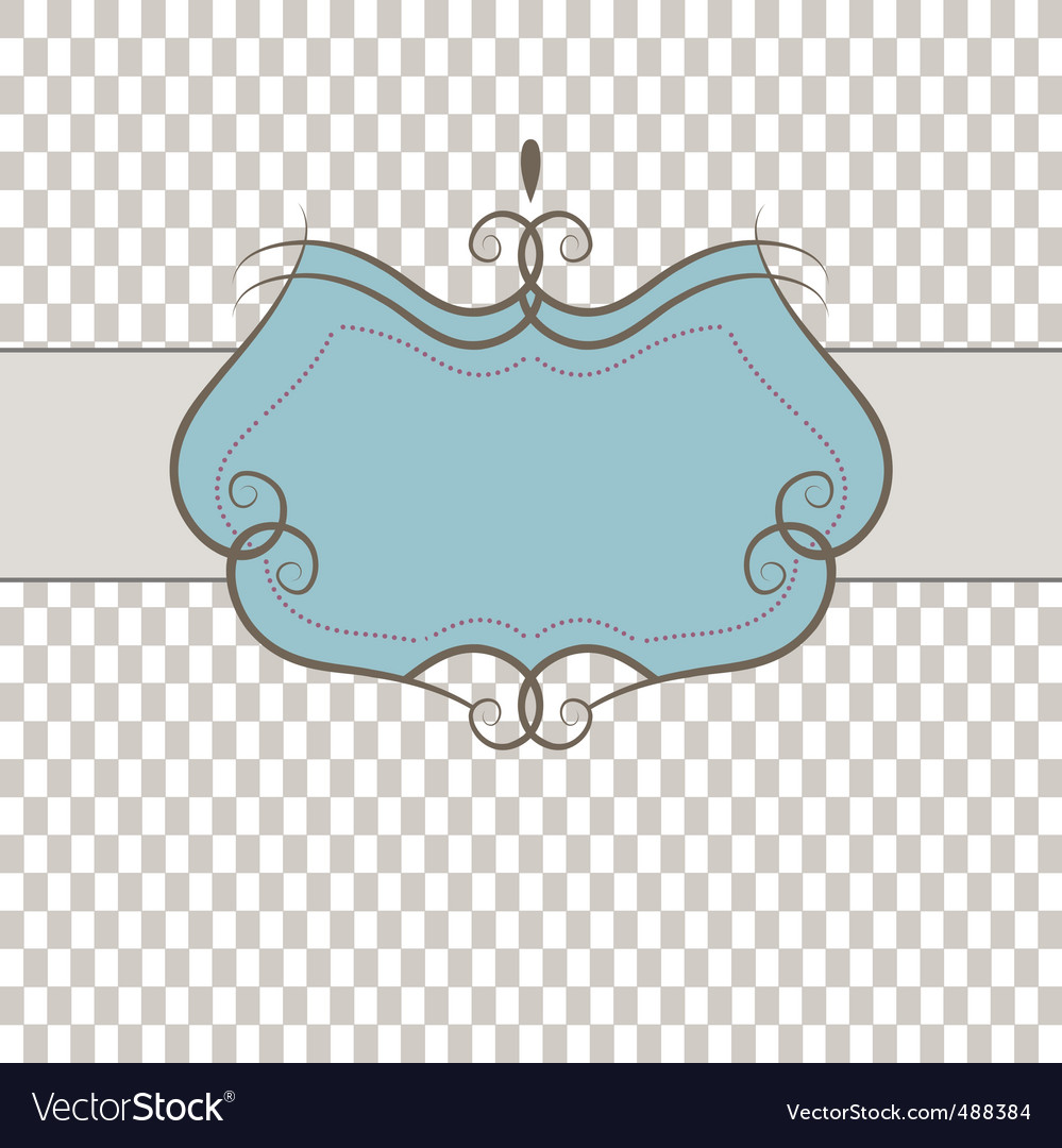 Template frame vector illustration vector image