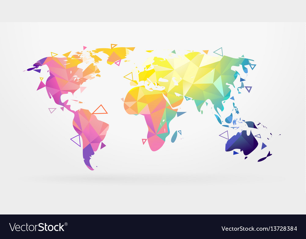 World map low poly royalty free vector image vectorstock world map low poly vector image gumiabroncs Images