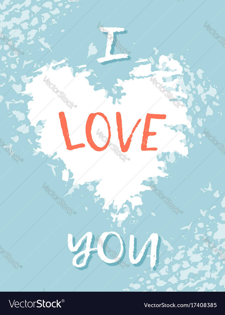 Greeting card for st valentine s day i miss you vector image kristyandbryce Image collections