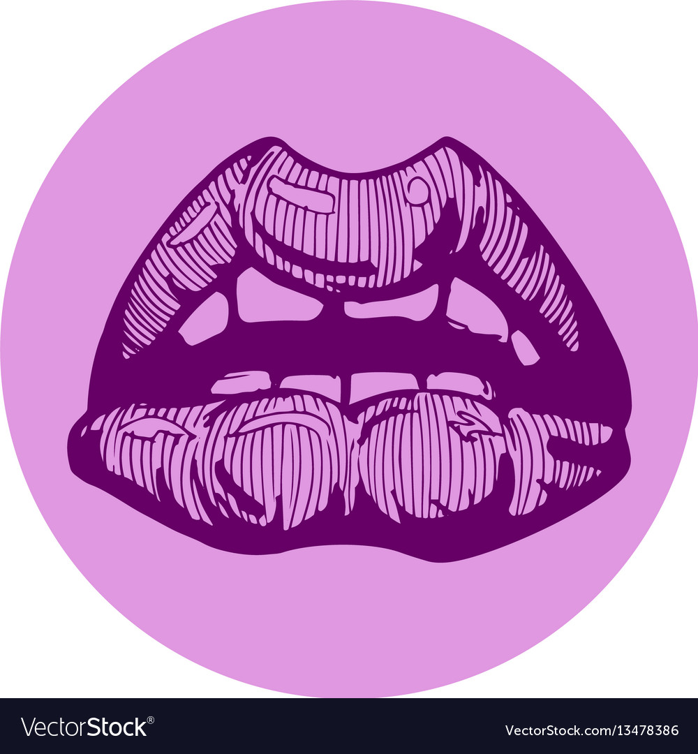 Woman sexy lips vector image