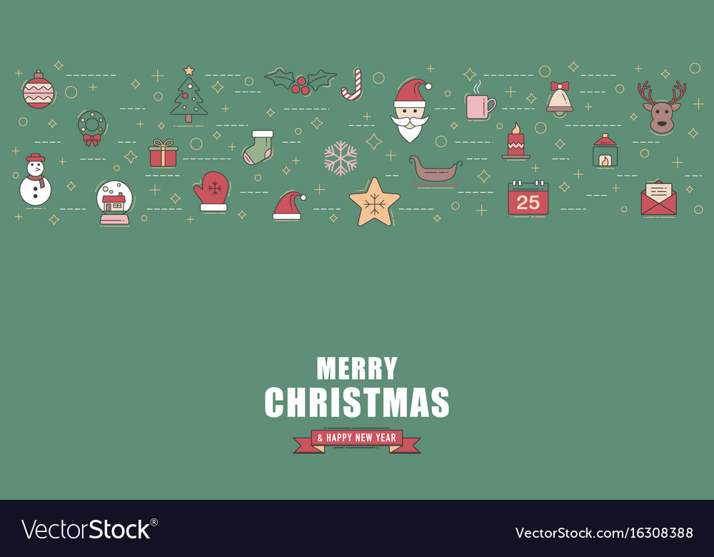 Christmas greeting card or invitation background vector image christmas greeting card or invitation background vector image stopboris Image collections