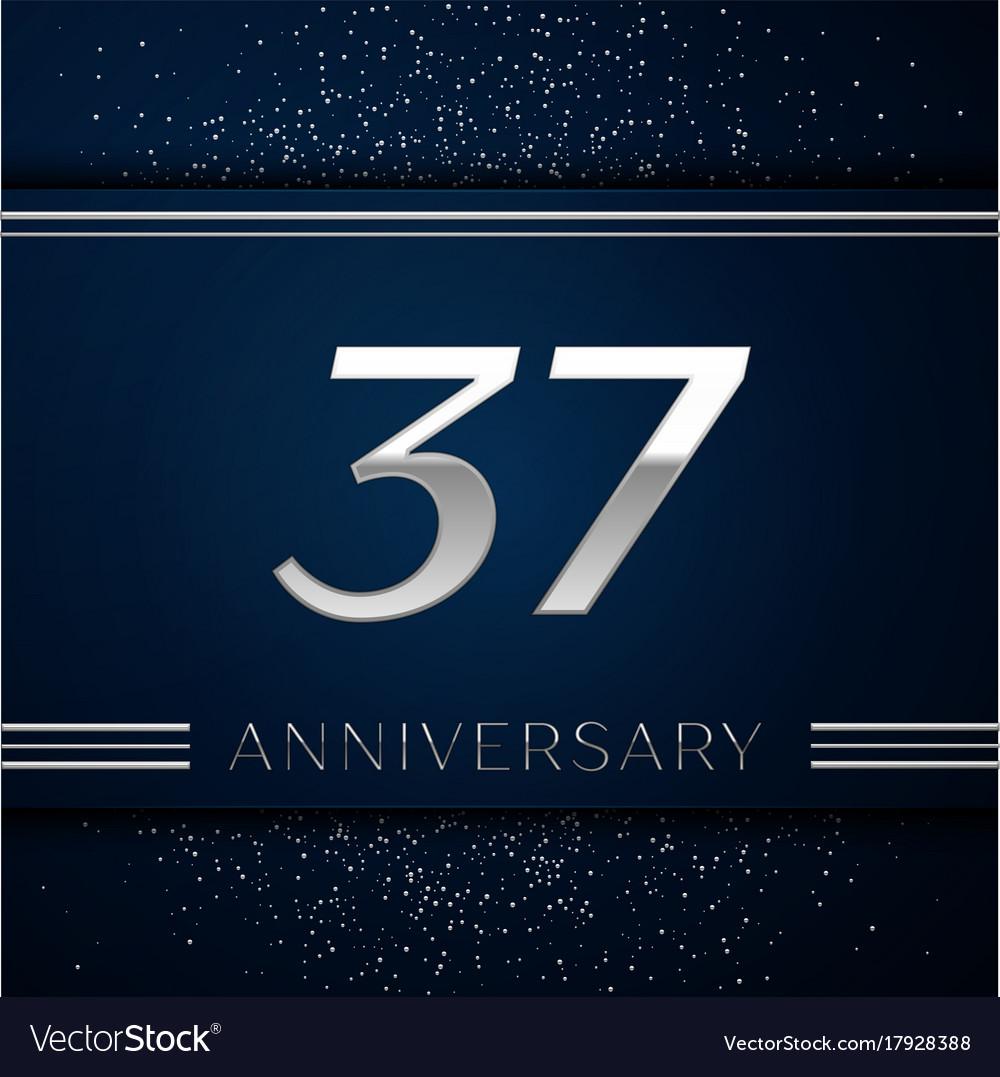 Thirty Seven Years Anniversary Celebration Vector Image Cottarizona