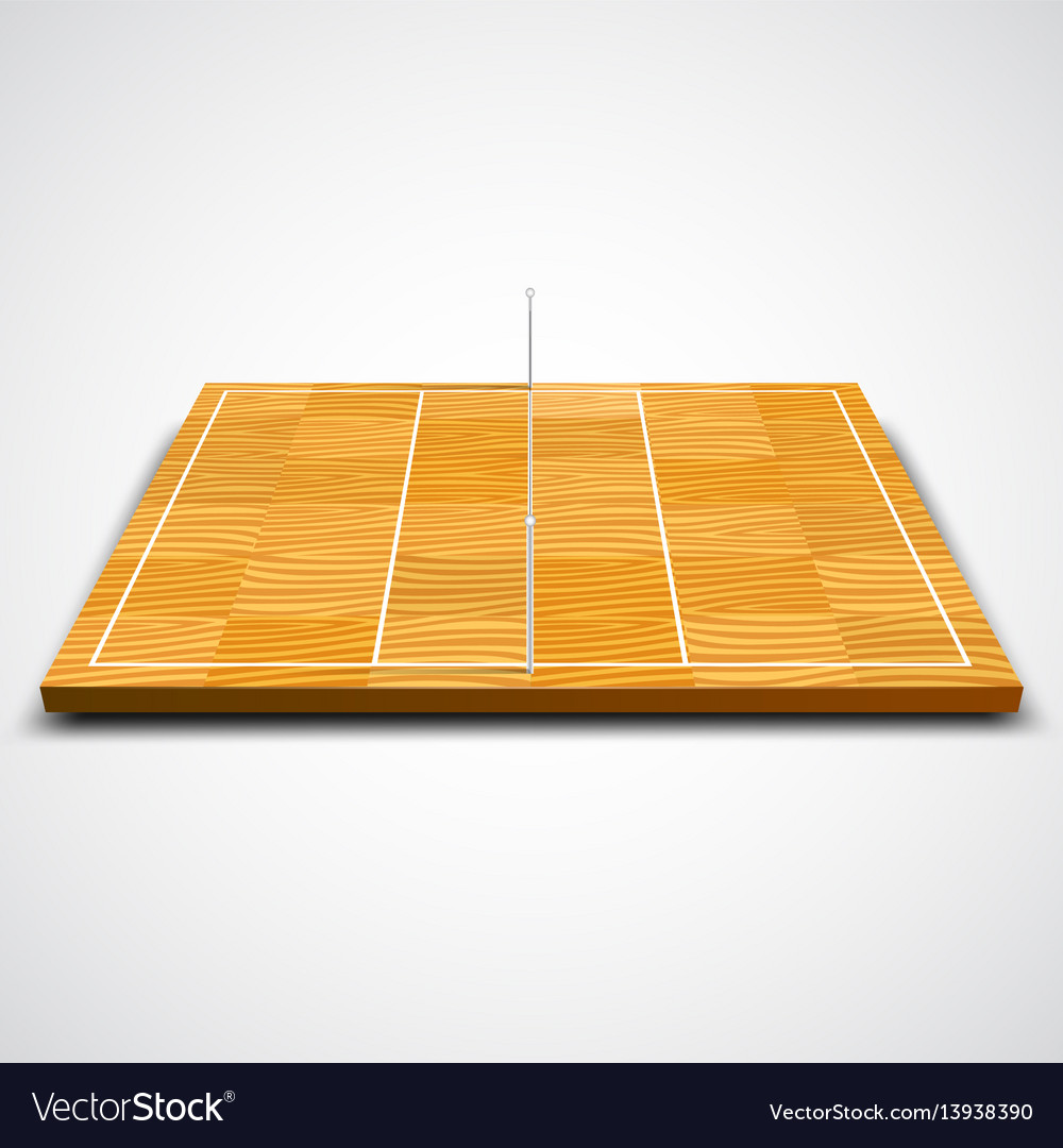 Clear 3d volleyball field vector image