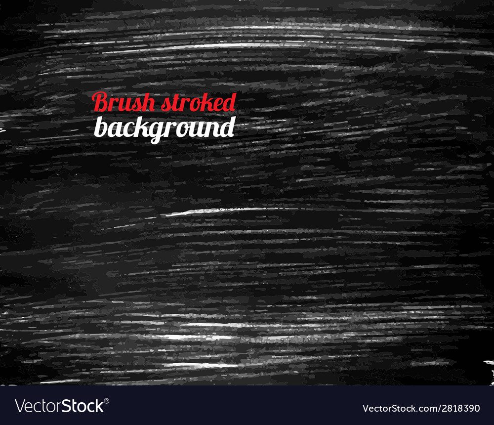 Painted black background vector image
