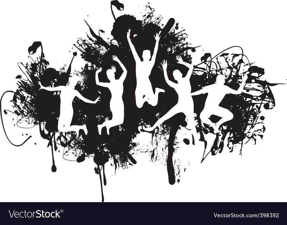 Jumping vector image
