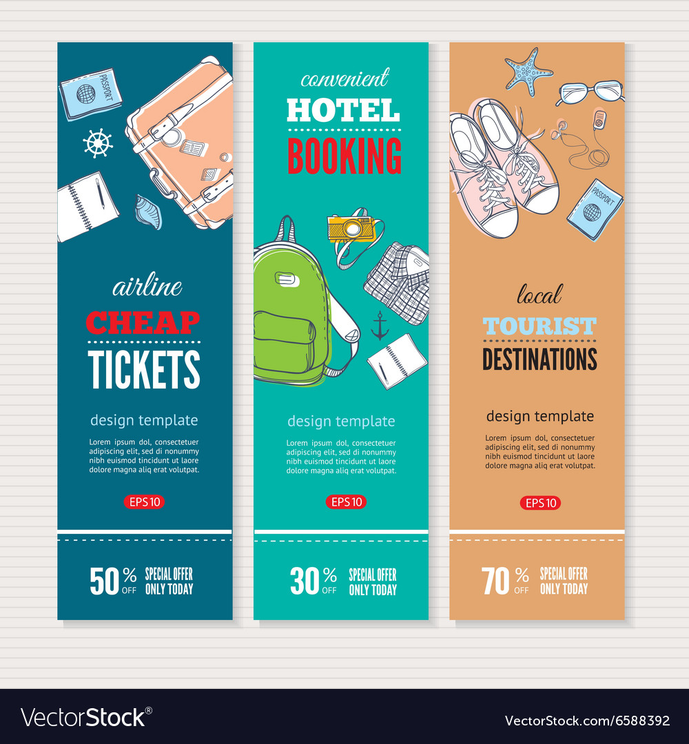 Travel banners set vector image