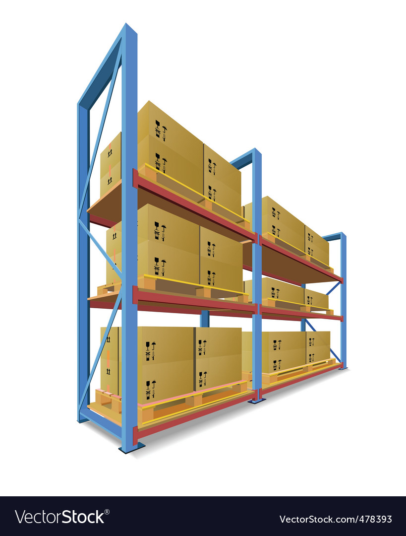 Storage racks vector image