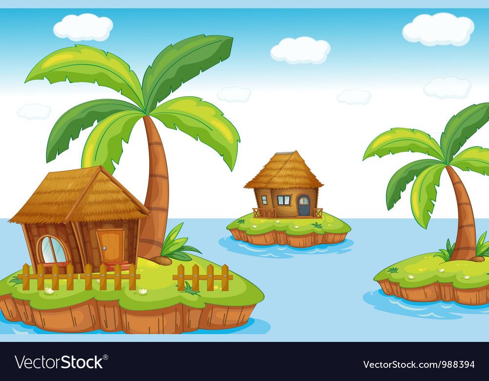 Island accommodation vector image