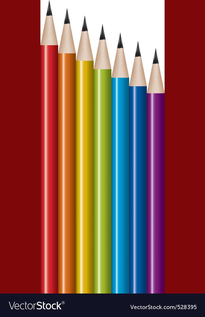 Vector set of lead pencils vector image