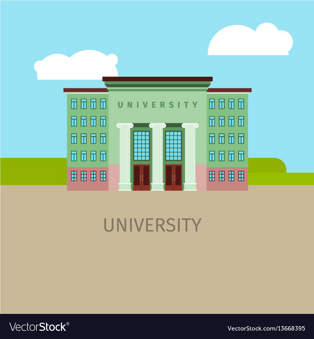 Colored univercity building vector image