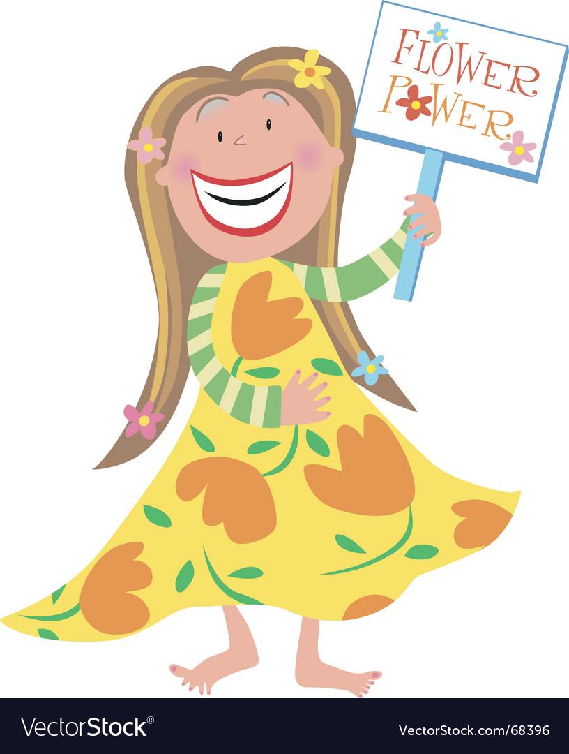 Hippie girl vector image