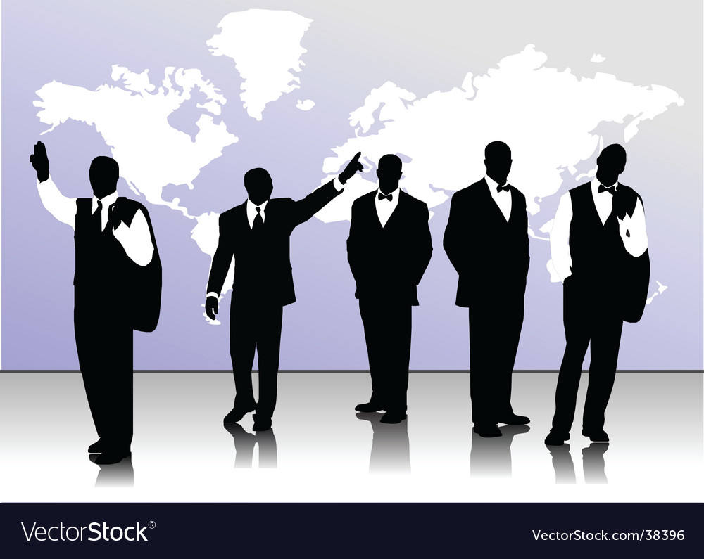 Men silhouettes vector image
