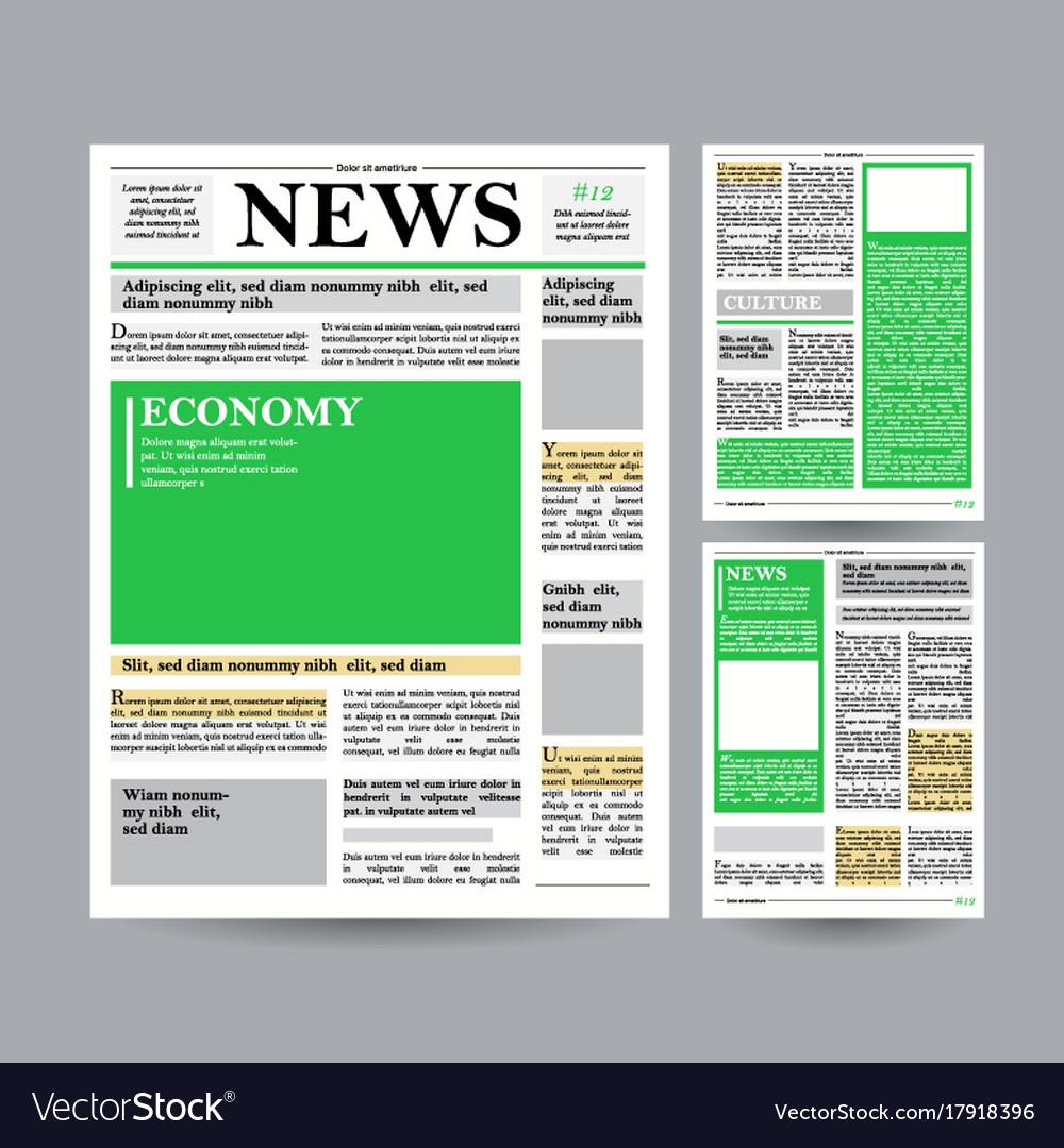 Newspaper design template financial royalty free vector newspaper design template financial vector image saigontimesfo