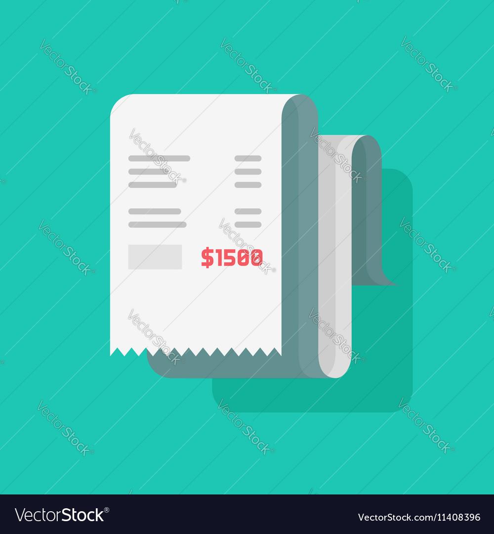 Receipt bill paper invoice vector image