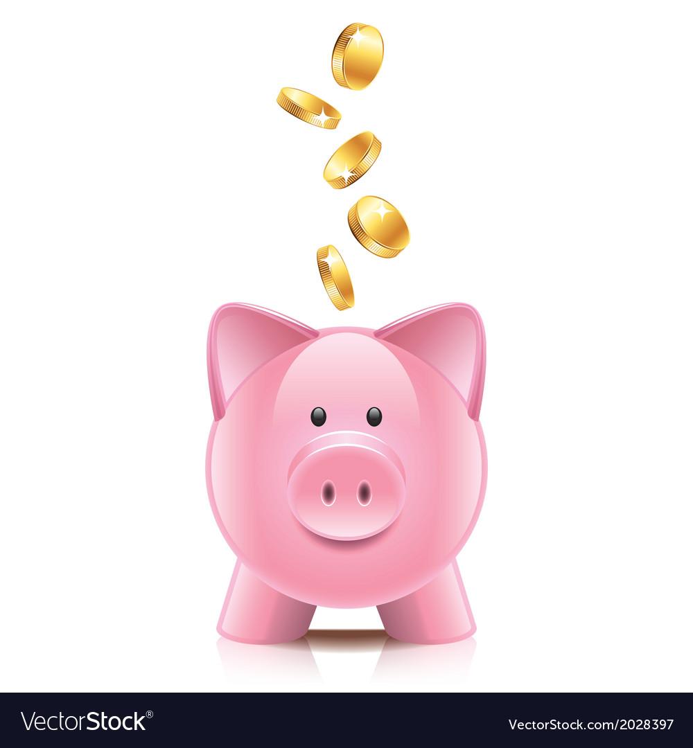 Object piggy bank vector image