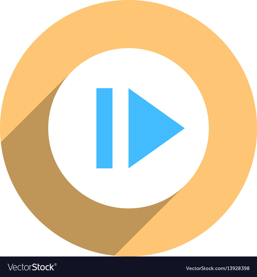 Arrow sign eject icon circle button vector image