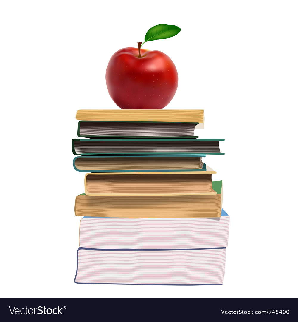 Education books vector image