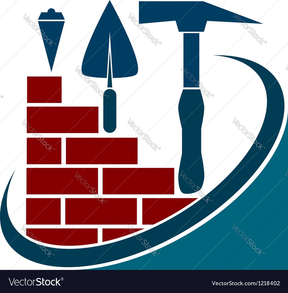 Construction business tools vector image