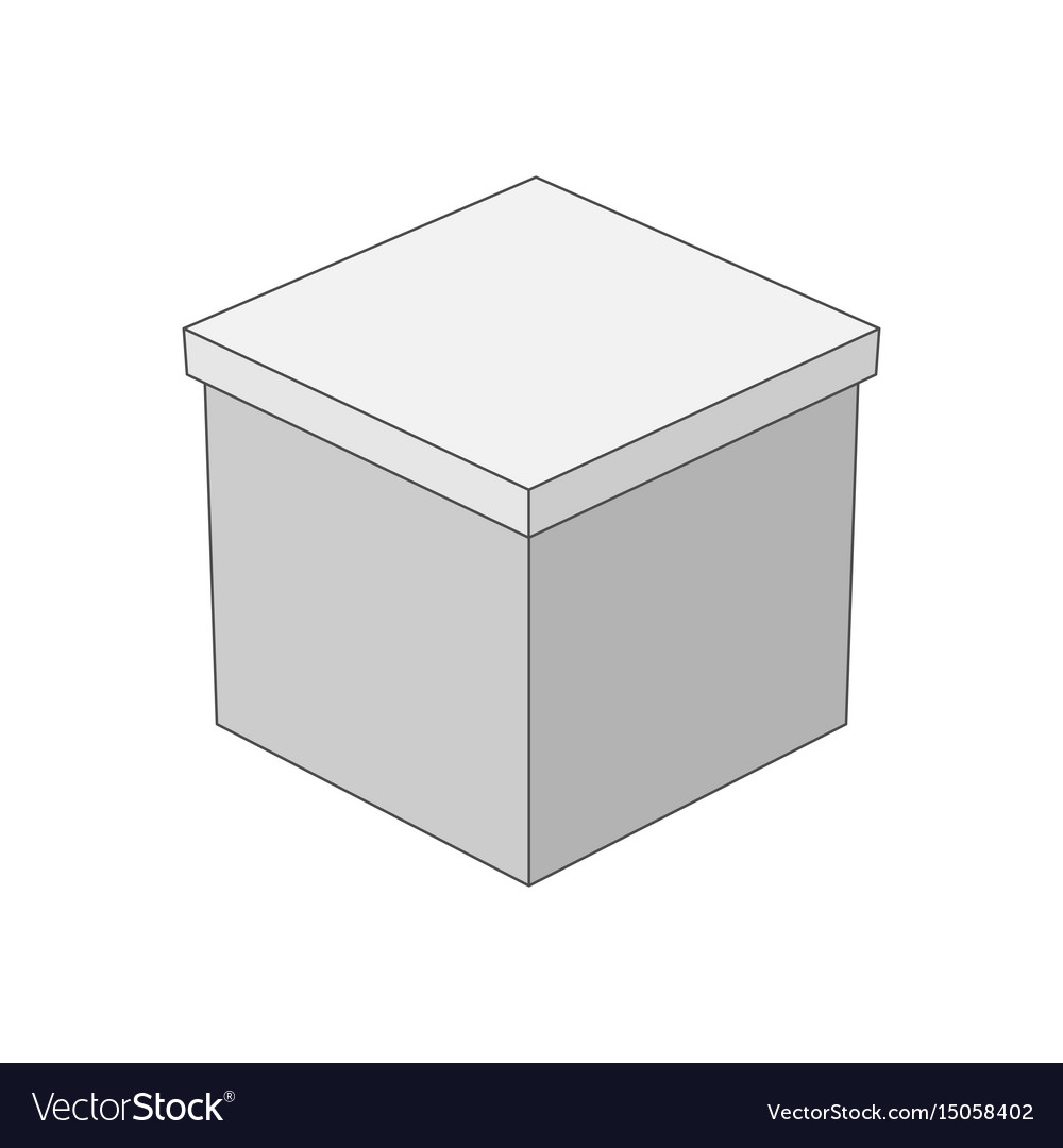 Gift box in outline style vector image