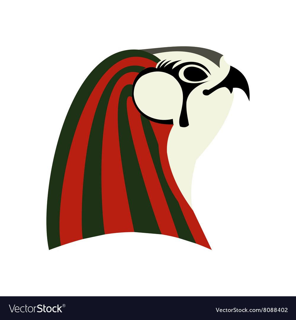 Horus icon flat style vector image