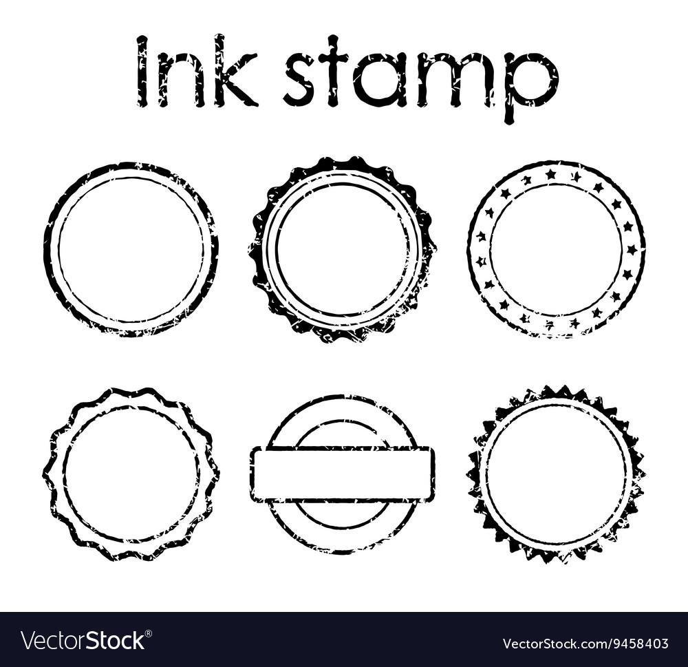 Grunge ink rubber stamp set vector image