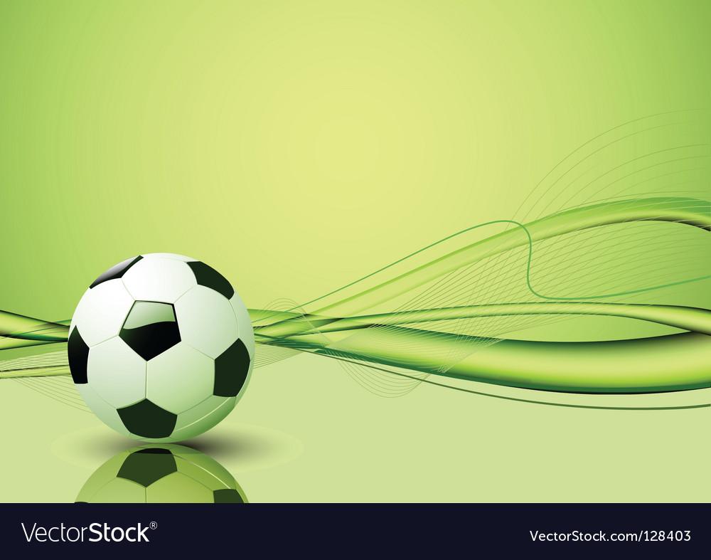 Soccer ball template vector image