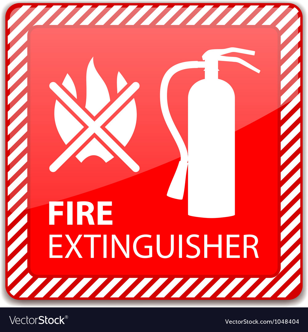fire extinguisher sign royalty free vector image