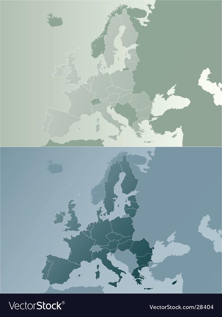 European union earthtones map vector image