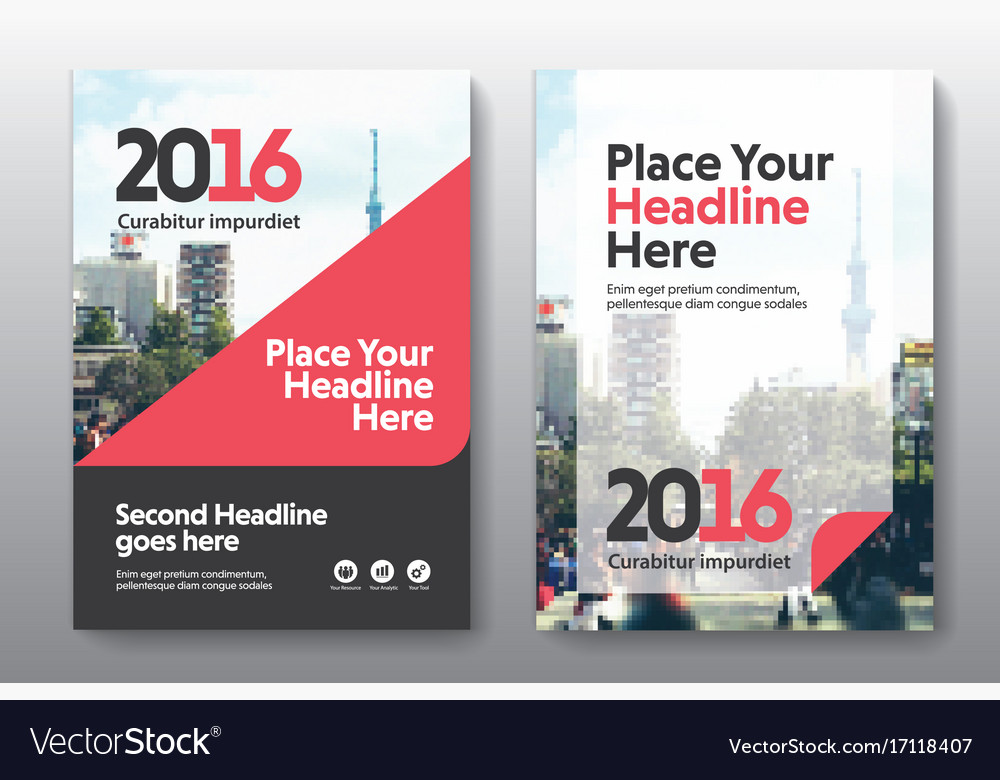 Business Book Cover Quest : City background business book cover design vector image