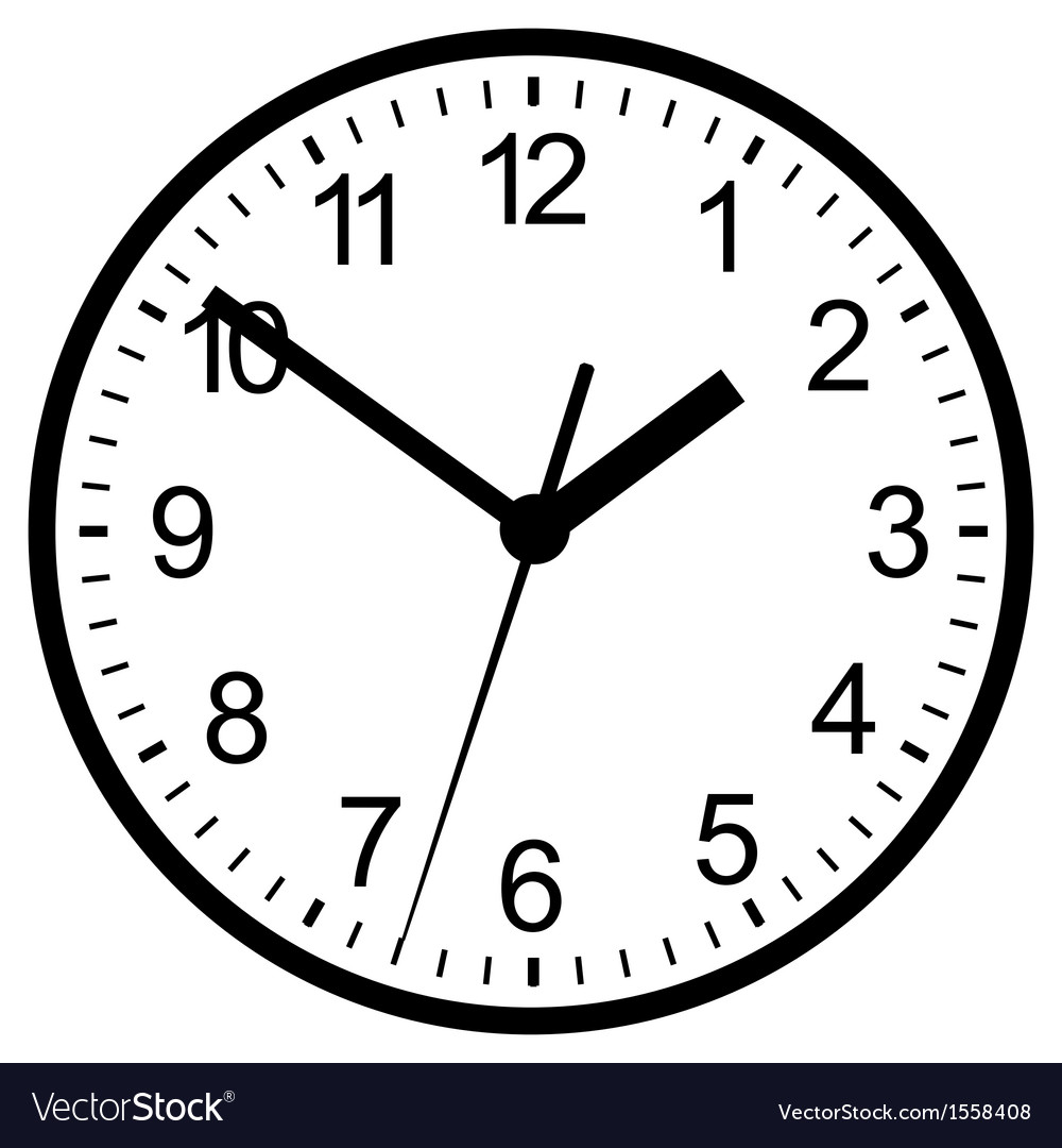Wall mounted digital clock Royalty Free Vector Image