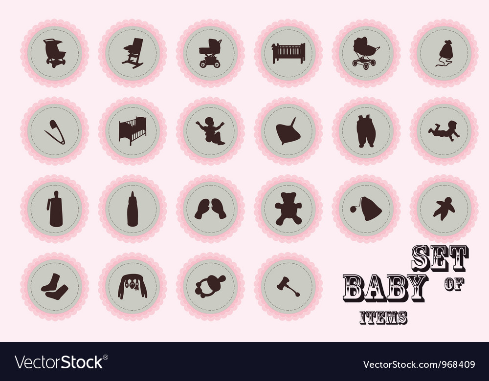 Pure series Hand draw baby icon vector image