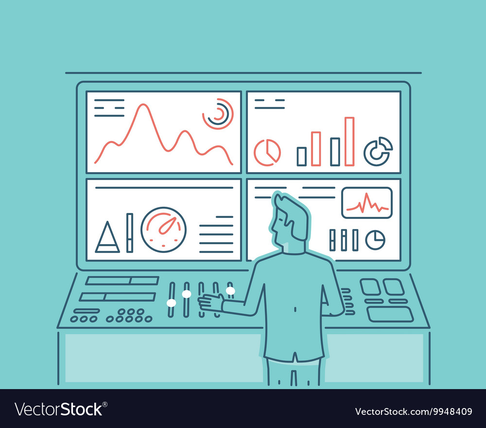 Web analytics information vector image