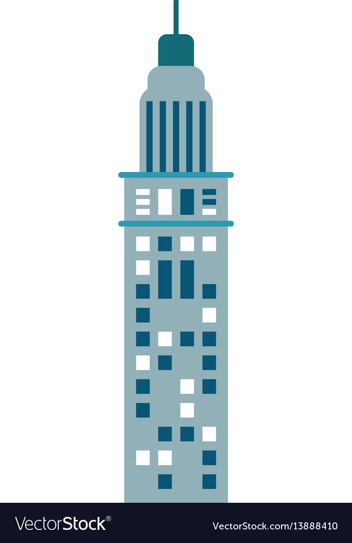 Building urban skyscraper vector image