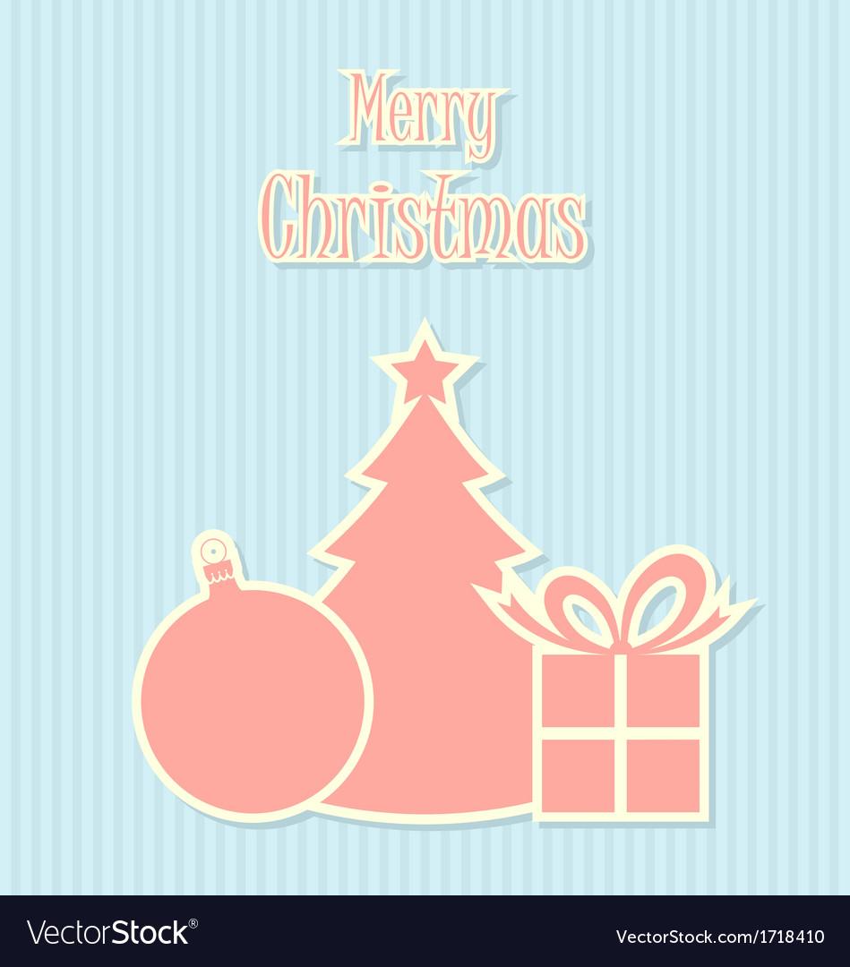 Retro style Christmas decoration vector image