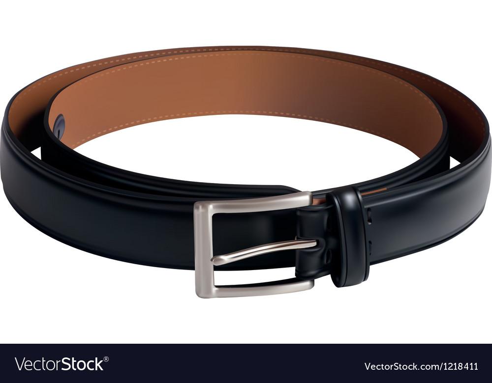 Men black belt Vector Image
