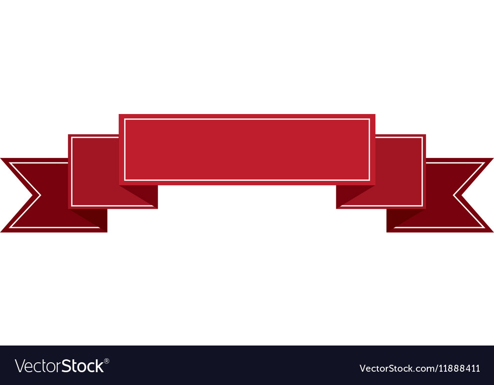 Banner ribbon red graphic vector image