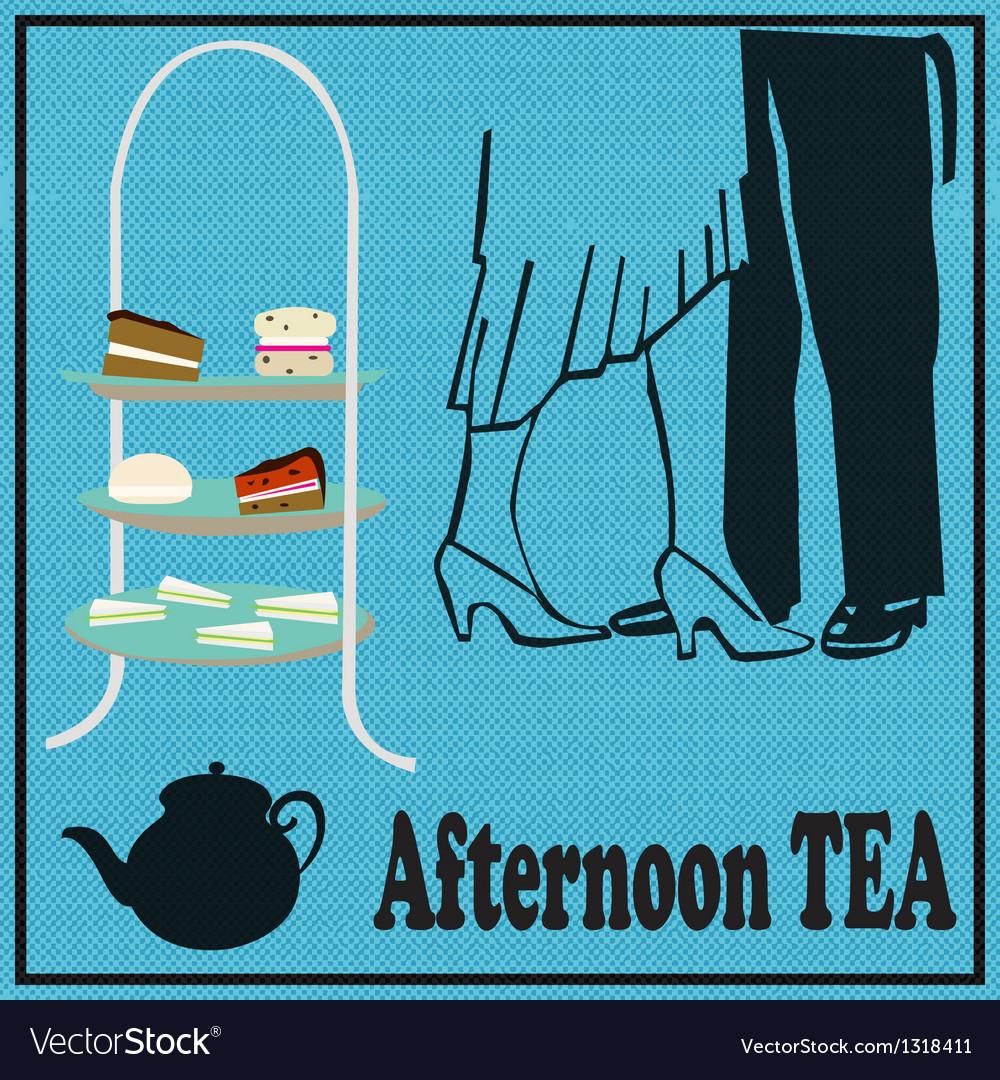 Tea Dance vector image