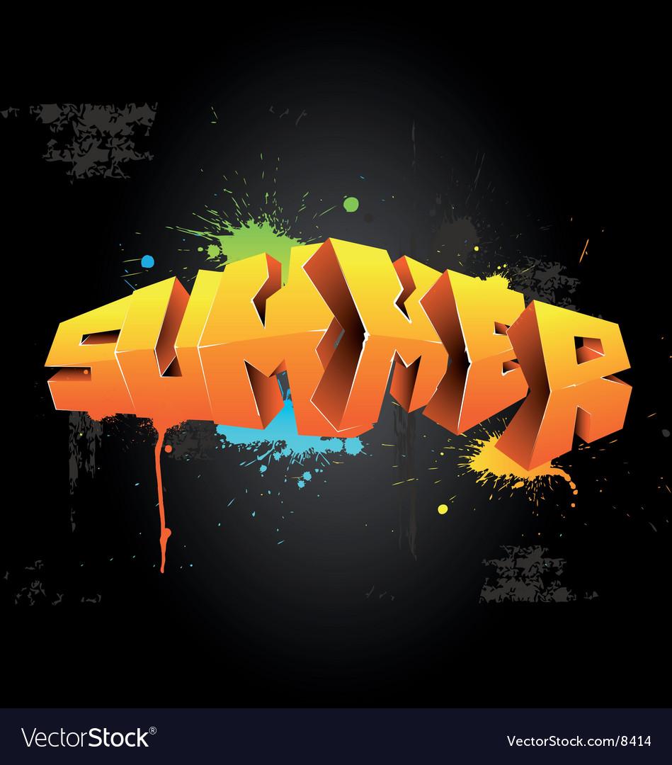 Graffiti summer Vector Image
