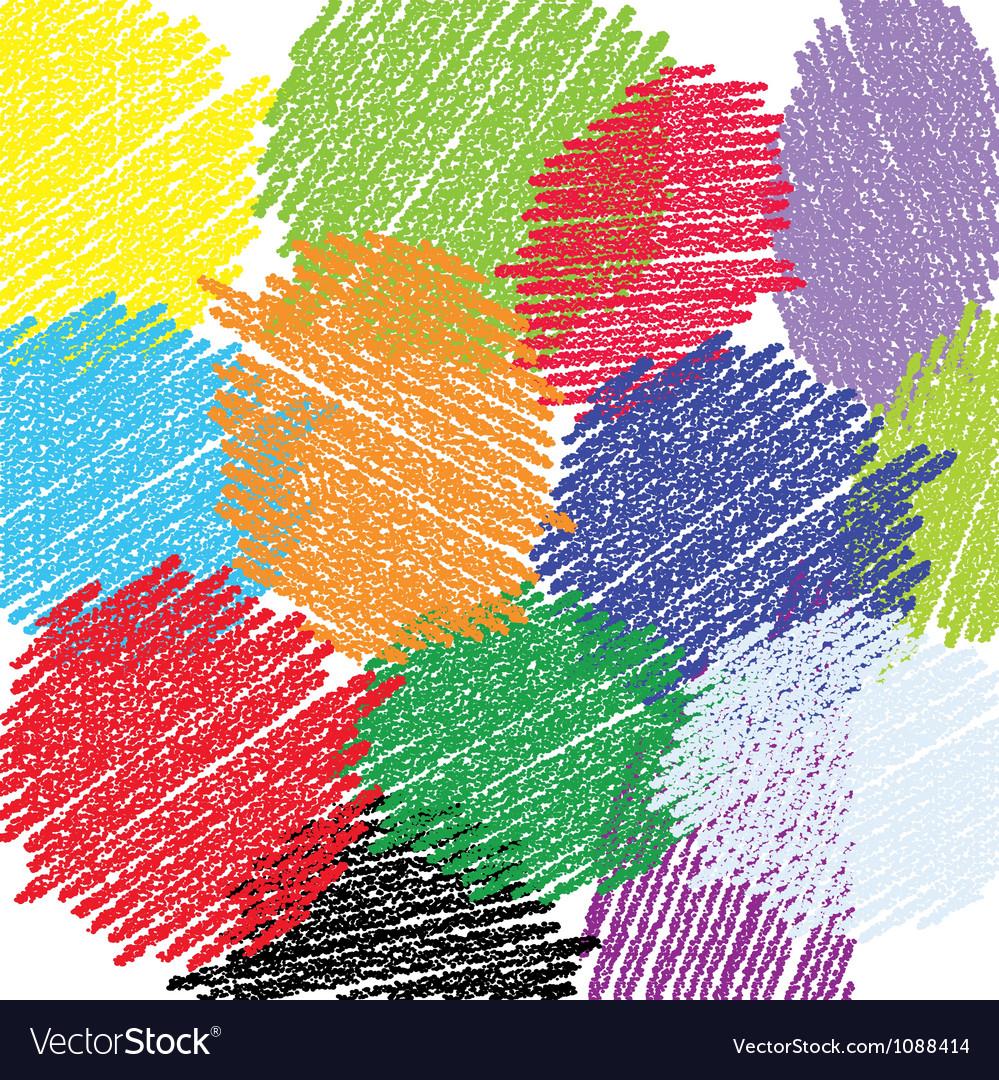 Crayon circles background vector image