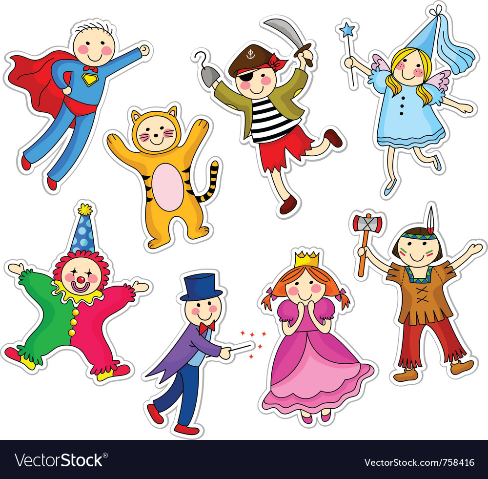Costume party vector image