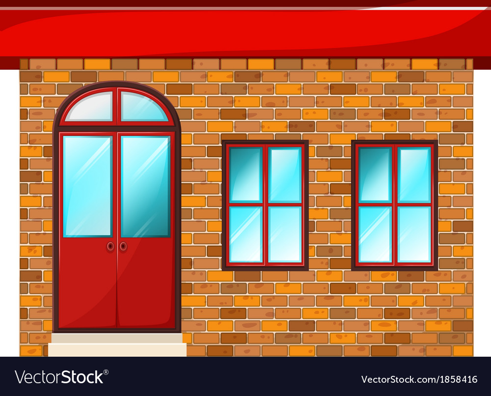 A Building Made Of Bricks Vector Image
