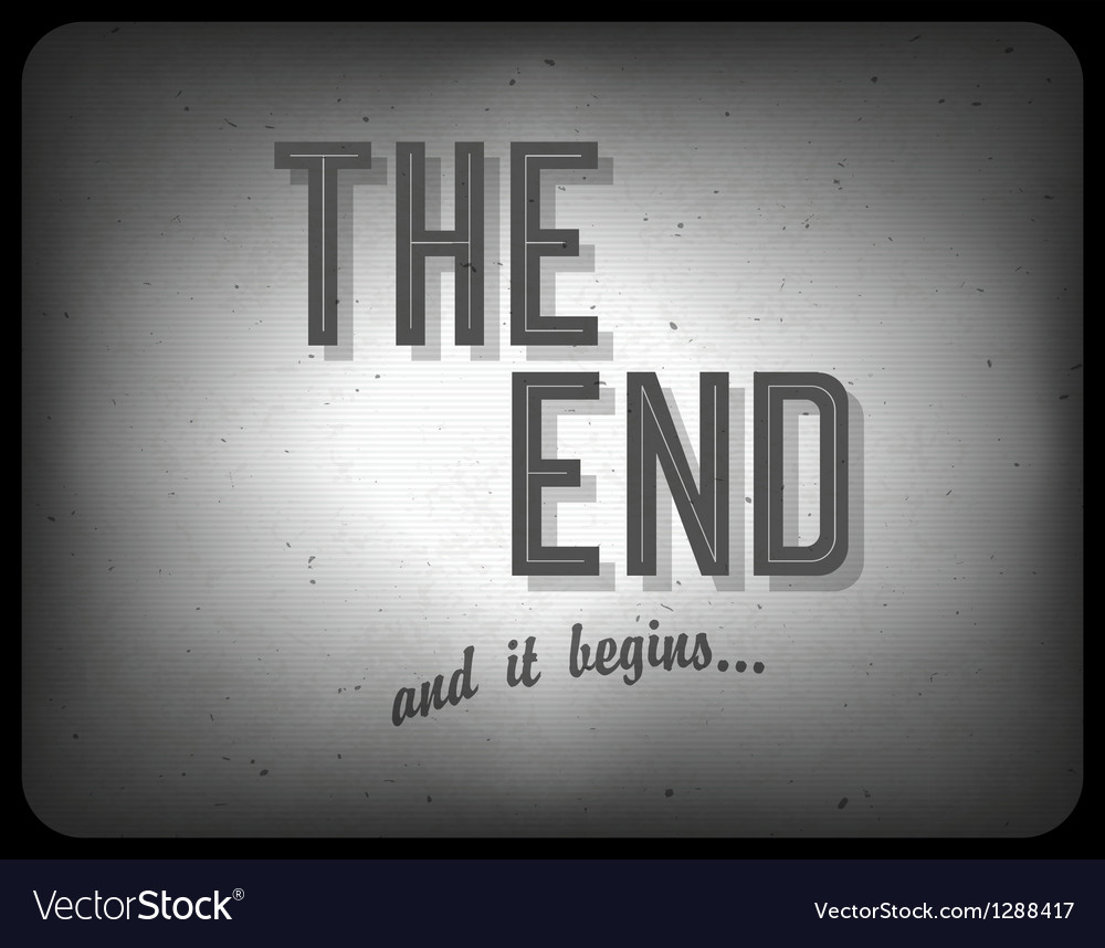 End cinema concept vector image