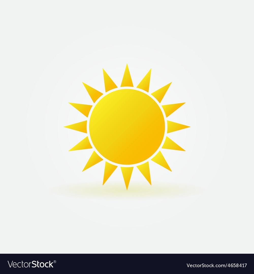 Yellow sun logo or icon vector image