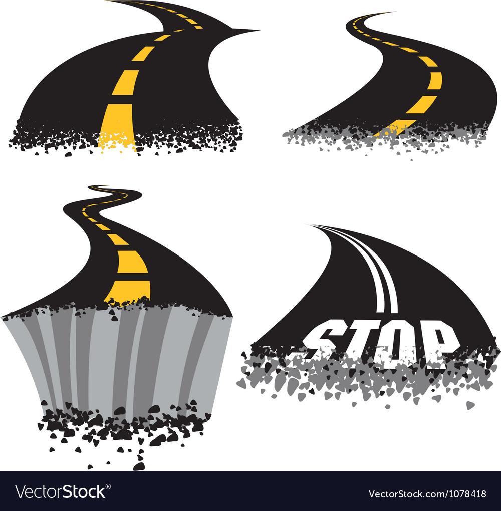 Road Rash vector image