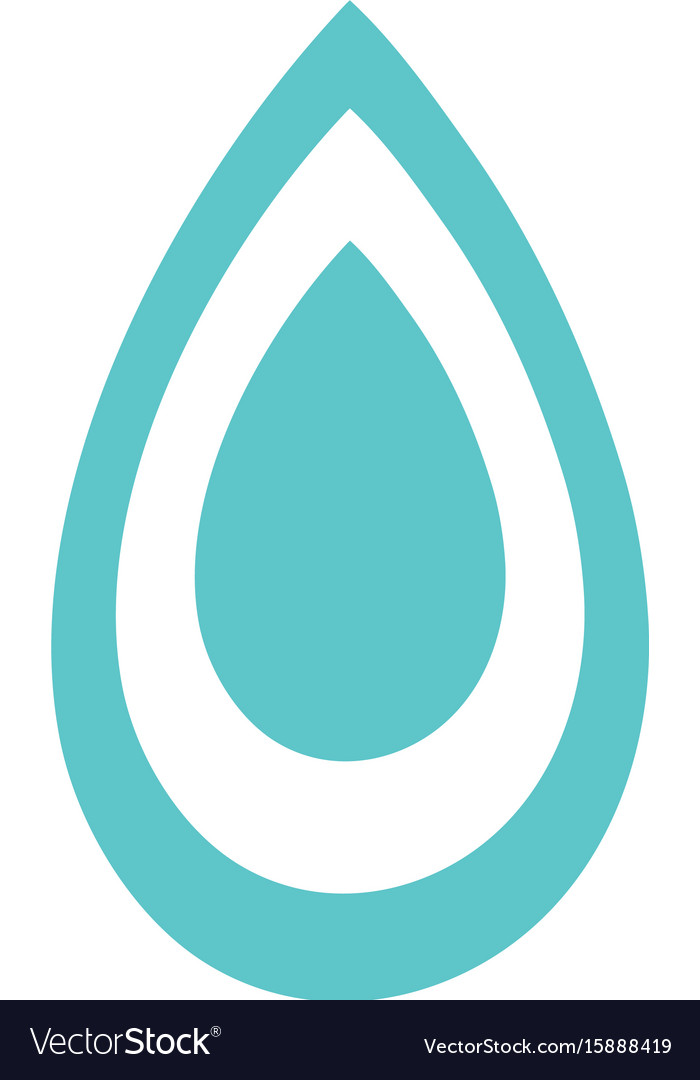 Water drop symbol to environment care royalty free vector water drop symbol to environment care vector image biocorpaavc Image collections